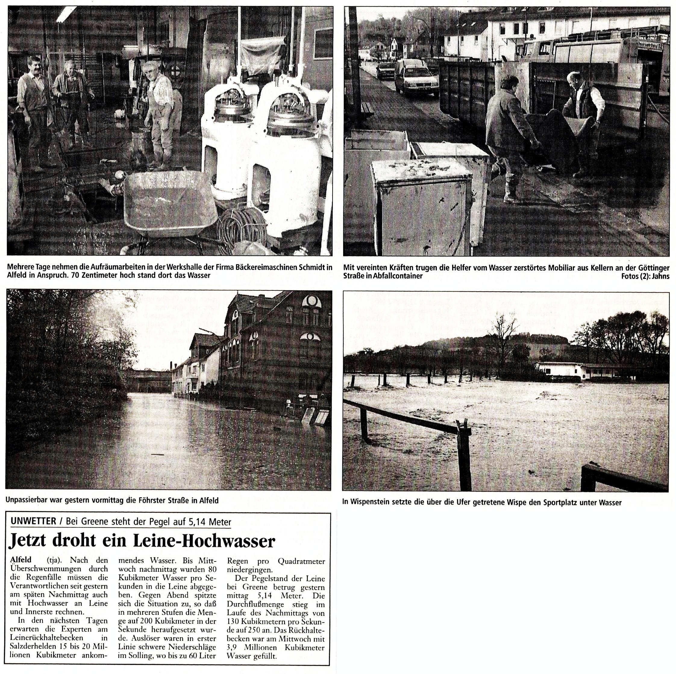 1998-10-30 Jetzt droht ein Leine- Hochwasser