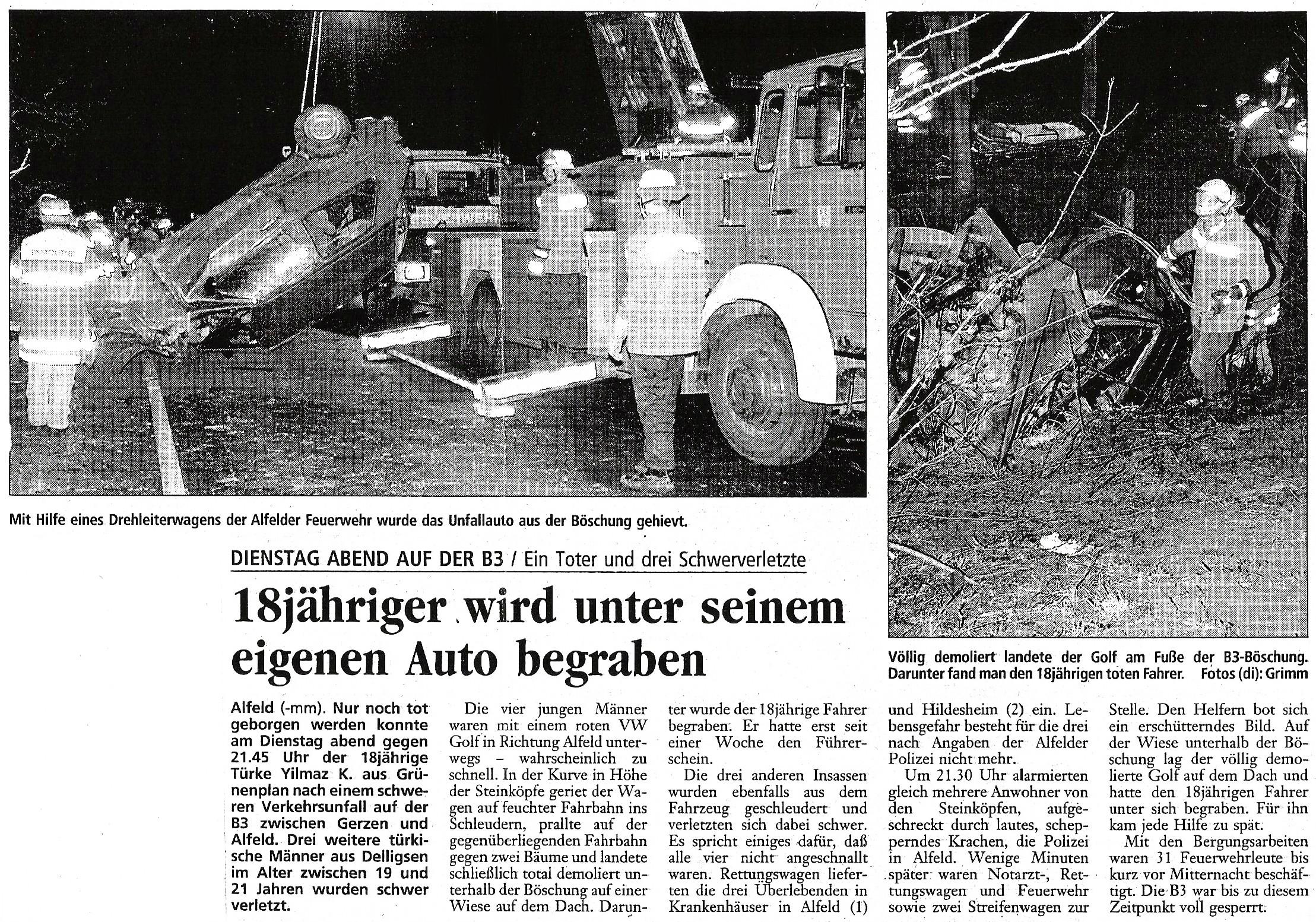 1999-02-25 18jähriger wird unter seinem eigenen Auto begraben