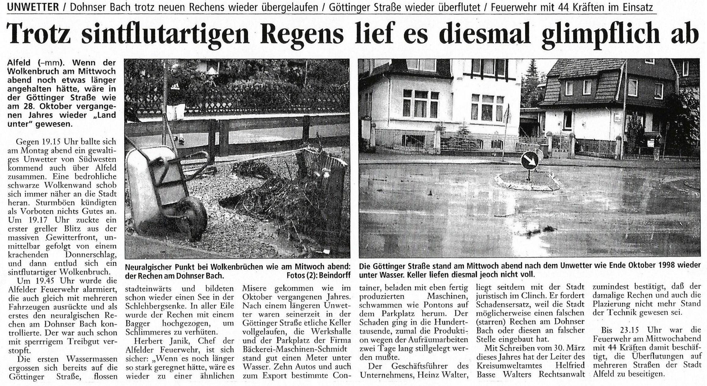 1999-06-04 Trotz sintflutartigen Regens lief es glimpflich ab