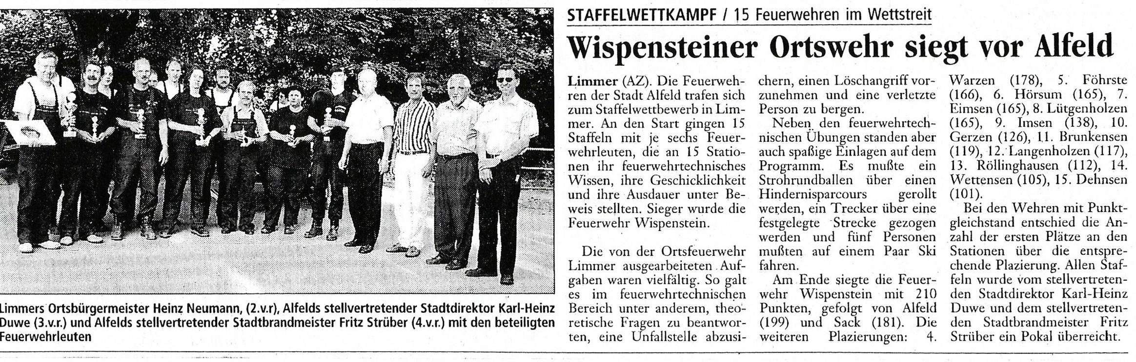 1999-06-09 Wispensteiner Ortswehr siegt vor Alfeld