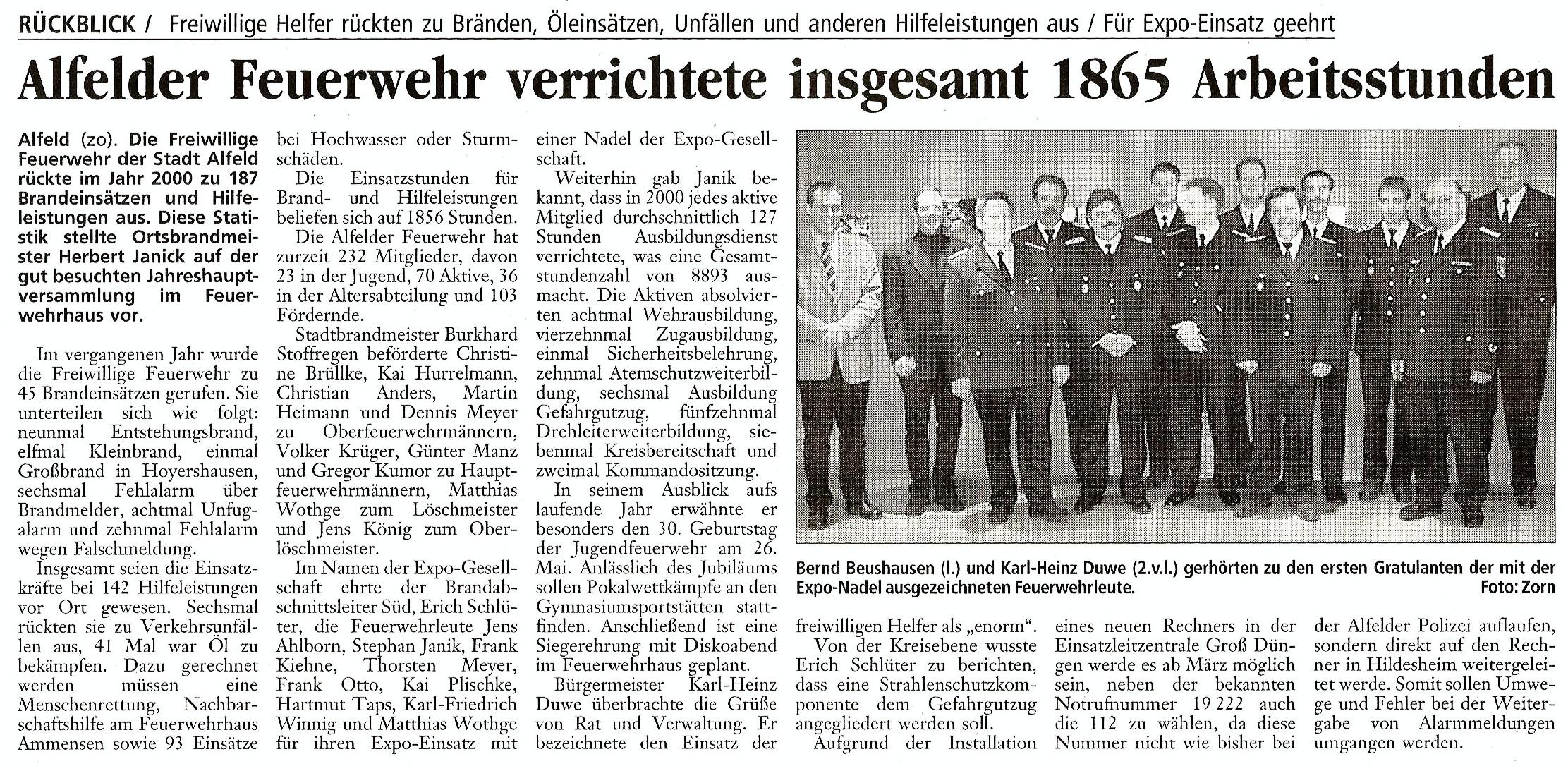 2001-02-02 Alfelder FF verrichtete 1865 Arbeitsstunden