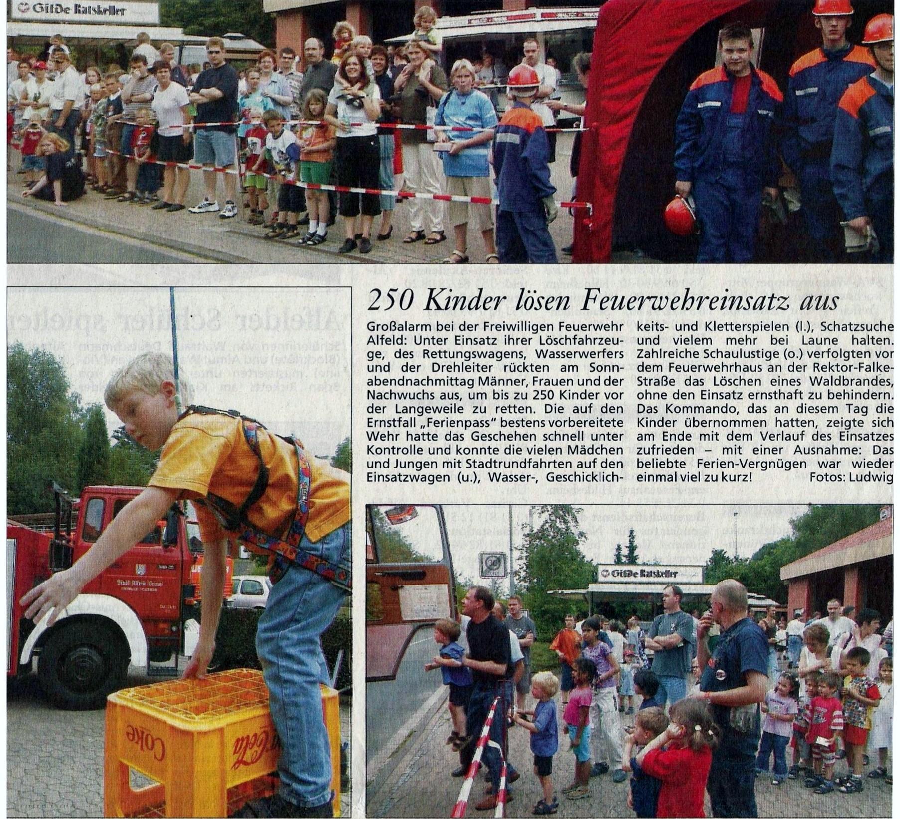 2002-06-24 250 Kinder lösen Feuerwehreinsatz aus