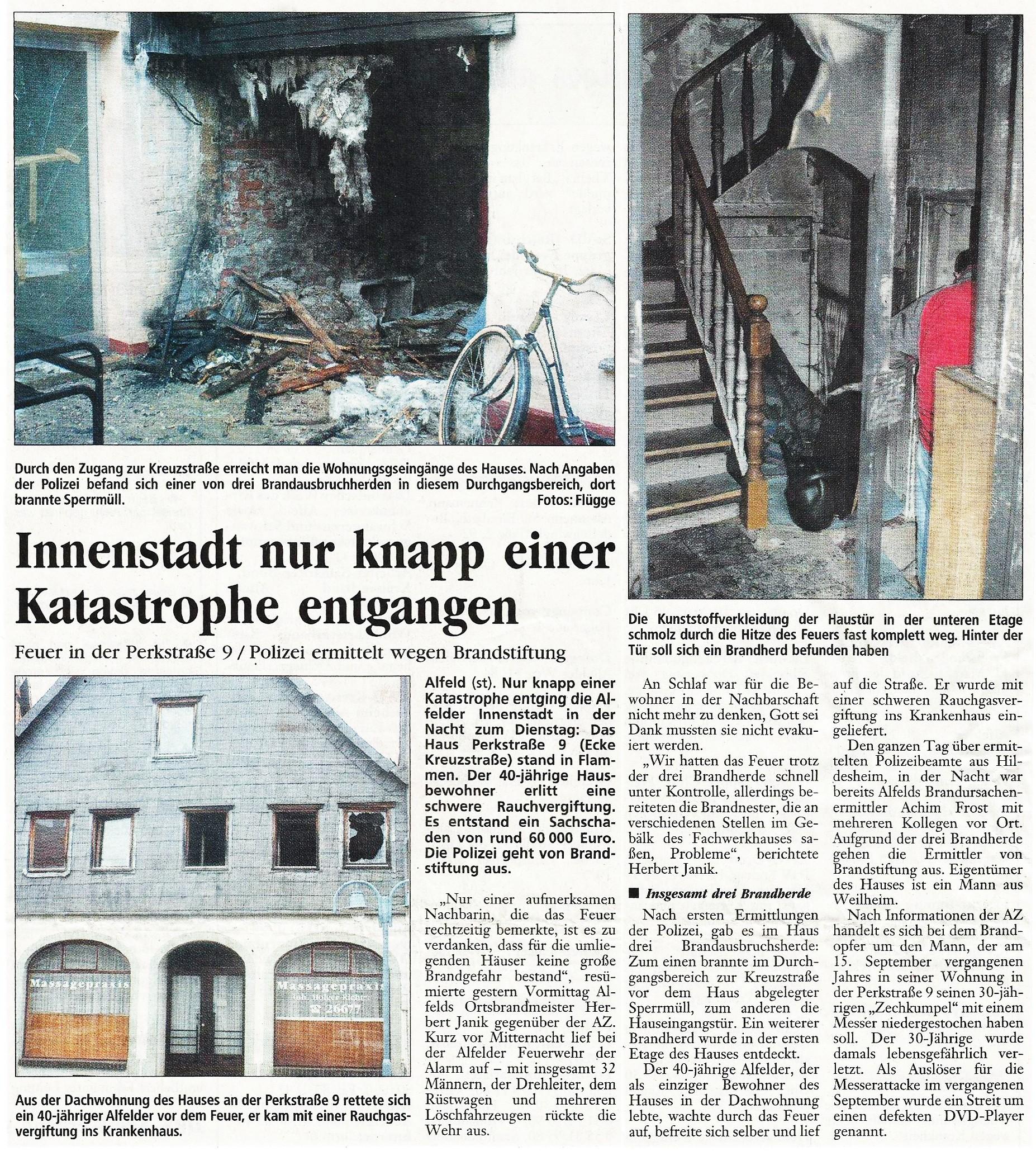2005-03-09 Innenstadt nur knapp einer Katastrophe entgangen