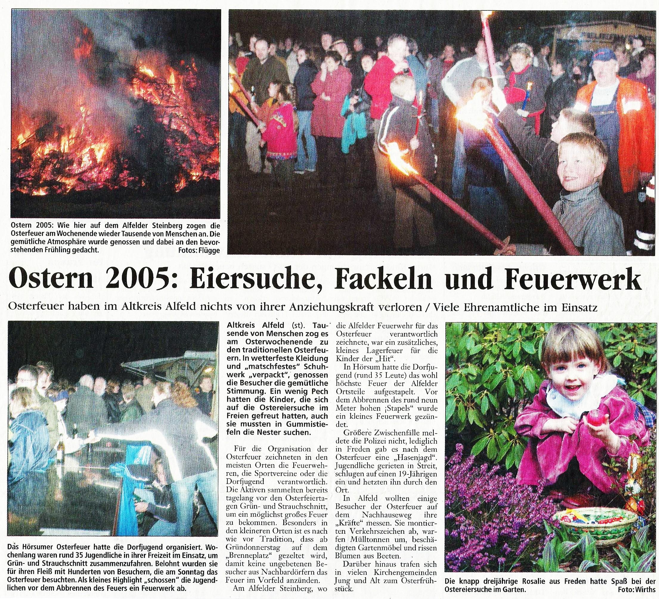 2005-03-29 Ostern 2005-Eiersuche, Fackeln und Feuerwerk
