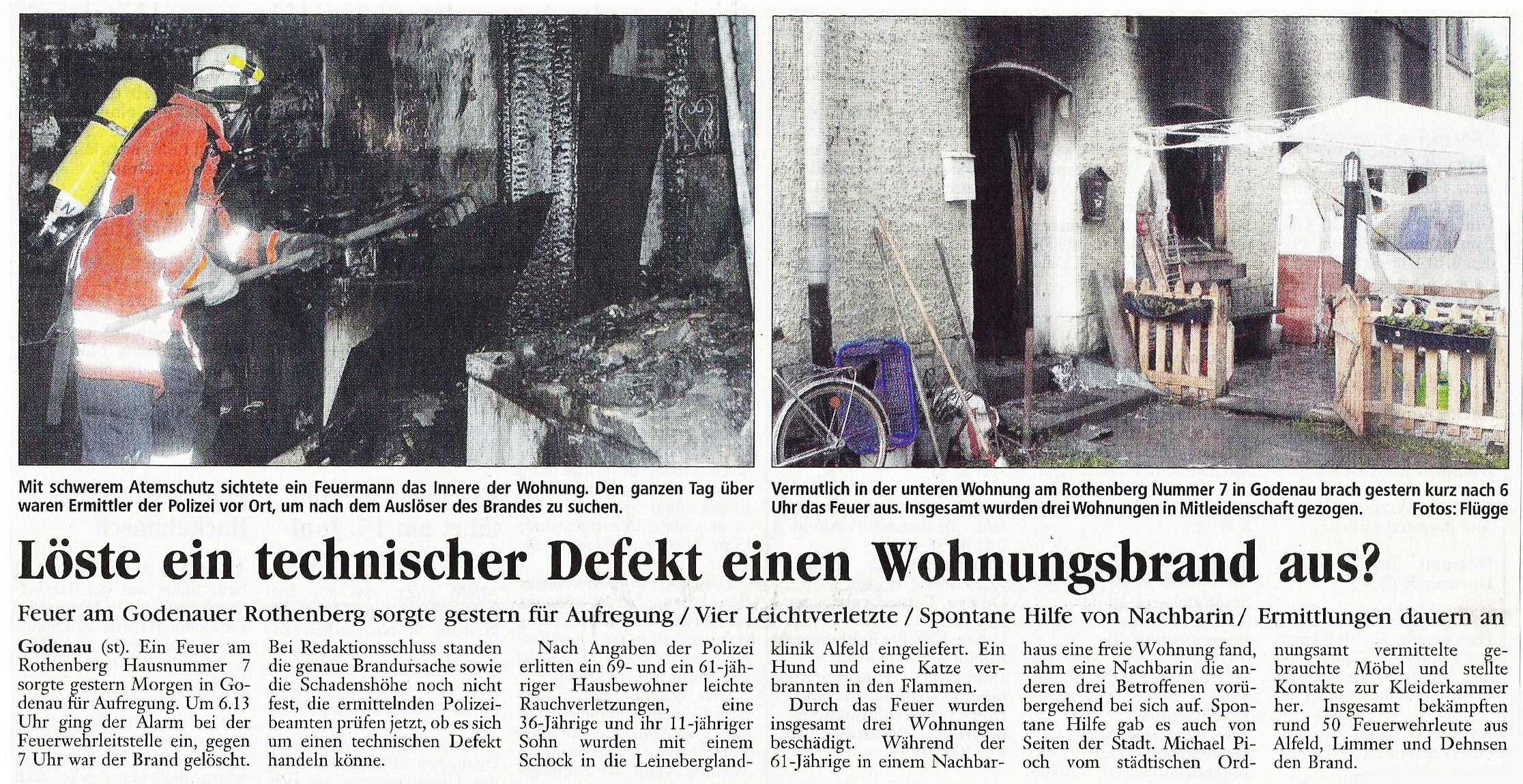 2005-06-02 Löste ein technischer Defekt einen Wohnungsbrand aus
