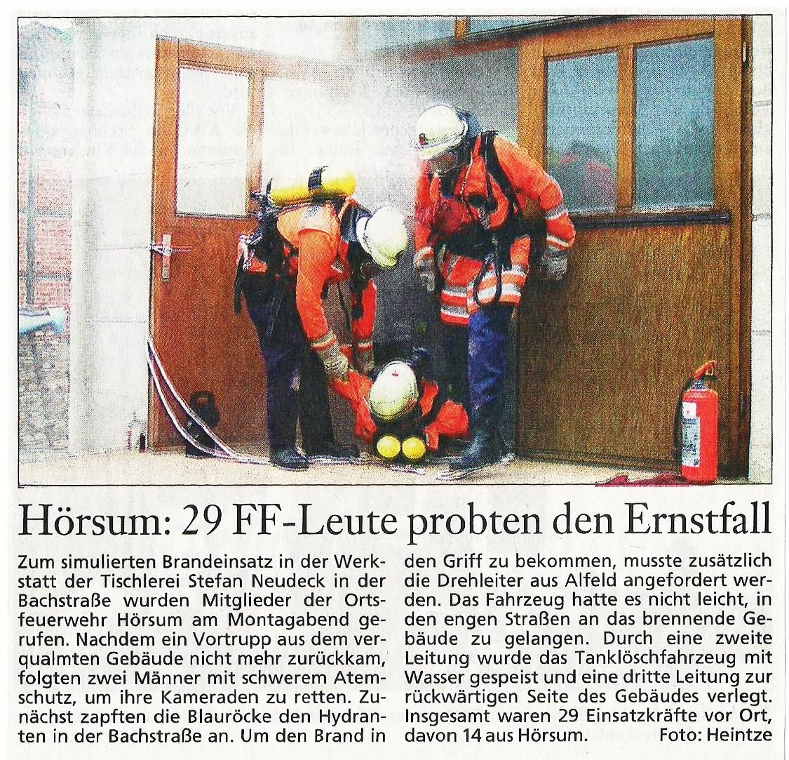 2005-07-06 Hörsum- 29 FF-Leute probten den Ernstfall