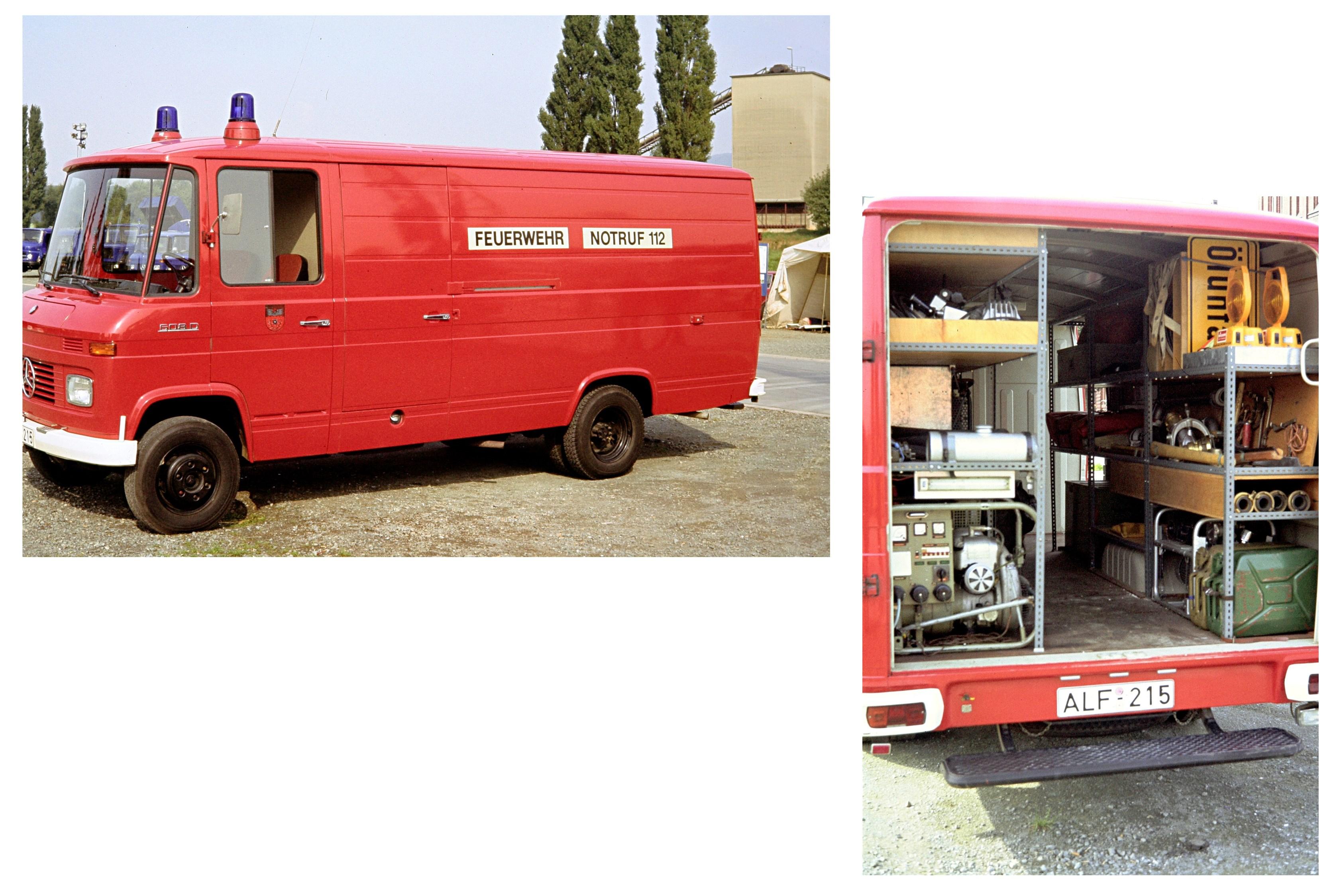 Gerätewagen ÖL, 1974-1987, ALF-215 (später HI-NZ 15). Der GW wurde am 05.06.1987 an die Stützpunktwehr Föhrste abgegeben und wurde dort am 15.02.2016 ausser Dienst gestellt (Fahrzeug des Landkreis Alfeld)
