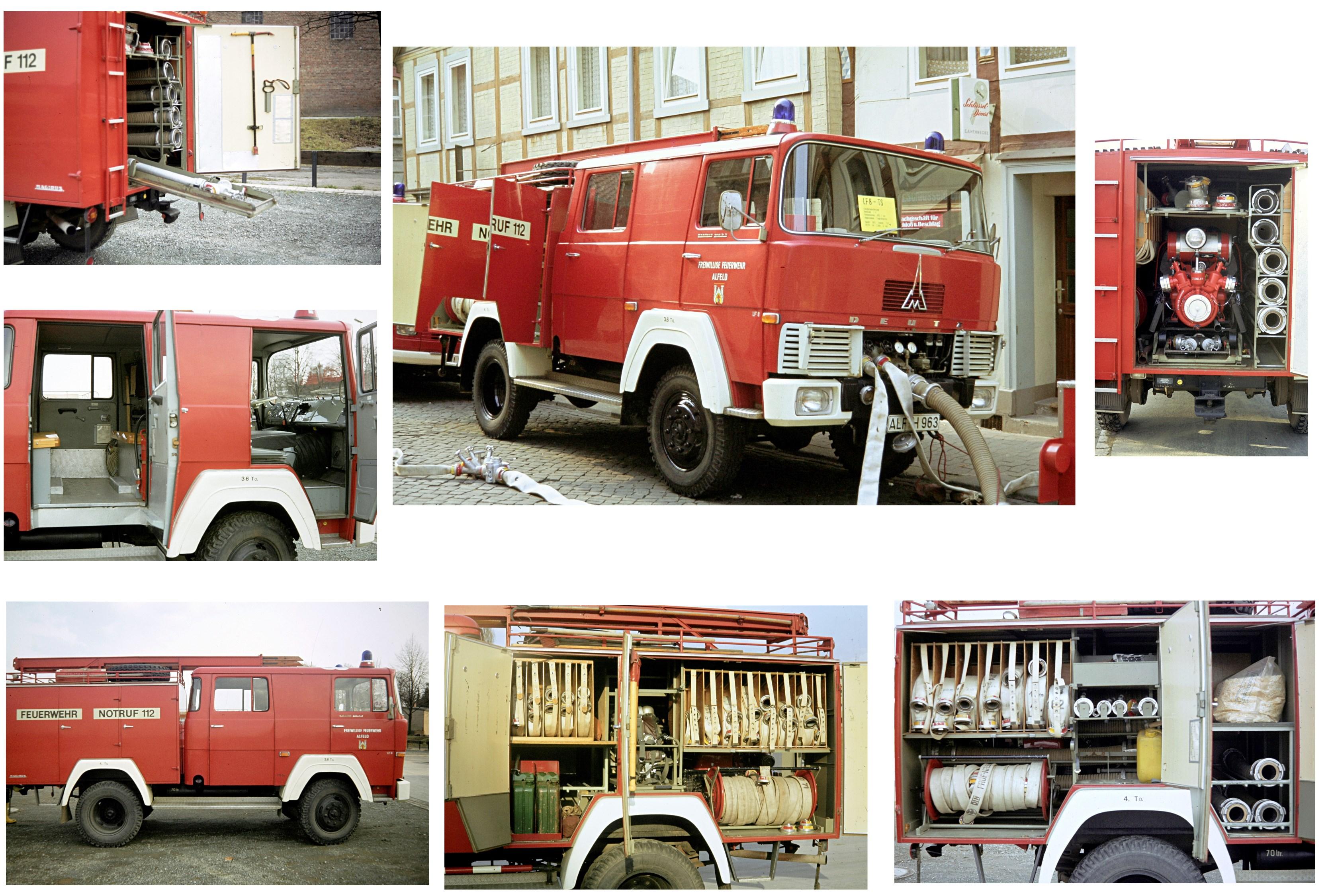 LF 8, 1967 bis 1988, ALF-H 963, Dieses Fahrzeug wurde 1988 an die Stützpunktwehr Föhrste abgegeben