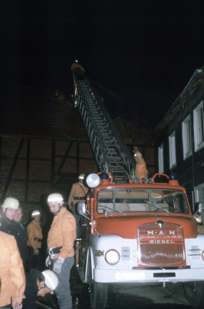 DL 30. Diese Drehleiter war 1980 nur kurzzeitig als Reserve-Fahrzeug in Alfeld stationiert.