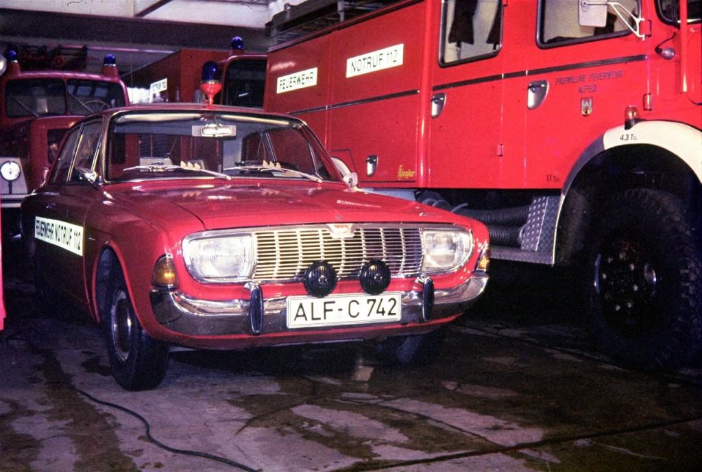 PKW, am 28.04.1976 mit einem Kilometerstand von 34.359km an die FF Alfeld übergeben. Mit 52.998km wurde der PKW Ende 1979 verschrottet. ALF-C 742