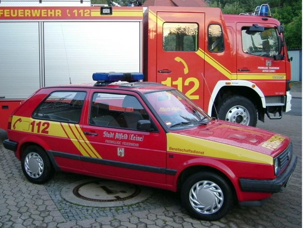 BVD, 2007-2014, HI-PL 26, Funkrufnummer: Florian Hilburg 26-65. Der VW Golf wurde vom Baubetriebshof der Stadt Alfeld übernommen